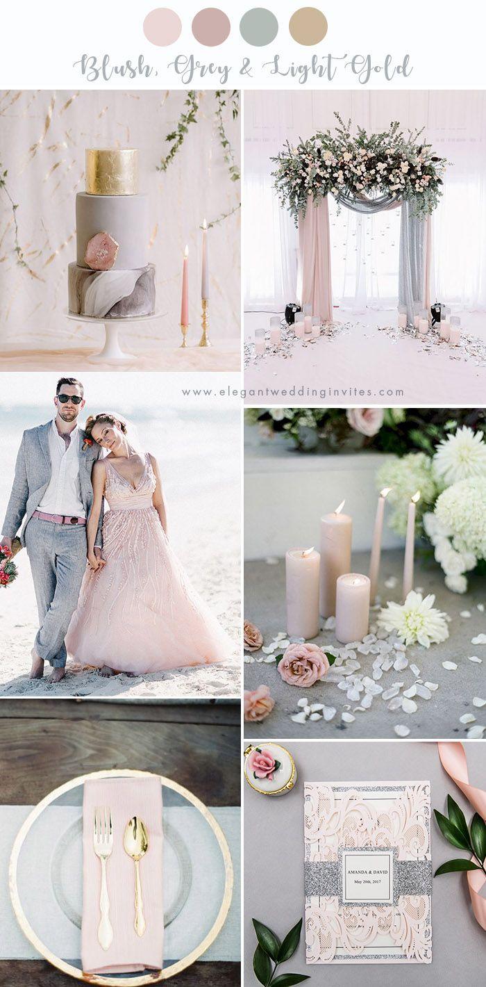 7 Stunning Wedding Color Palettes With Blush Pink Elegantweddinginvites Com Blog Wedding Parties Colors Pink Grey Wedding Pink And Gold Wedding