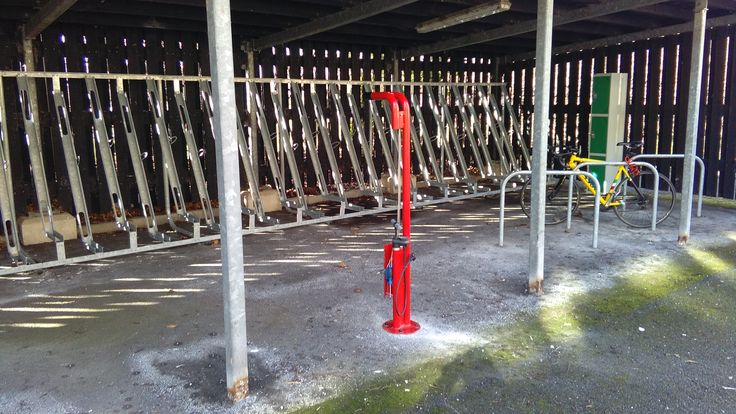 University of Chester - Six FalcoFix Cycle Stations Power Coated in RAL 3016 Coral Red