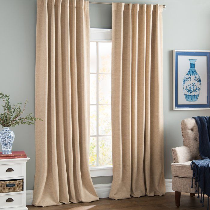 Freemansburg Room Darkening Rod Pocket Single Curtain Panel