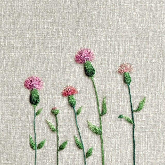 #야생화자수 #조뱅이 #꿈소 #꿈을짓는바느질공작소 #자수 #embroidery #handembroidery #embroideryart…