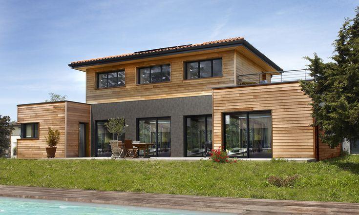 Les 17 meilleures id es de la cat gorie plan maison for Maison ossature bois 100m2