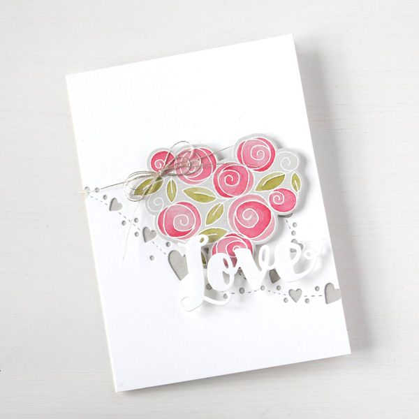 Simon Says Clear Stamps ROSES FOR YOU sss101582 You Have My Heart at Simon Says STAMP!