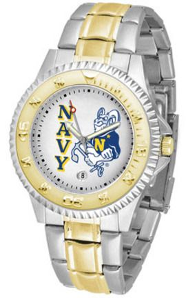 Navy Midshipmen Competitor Two Tone Watch