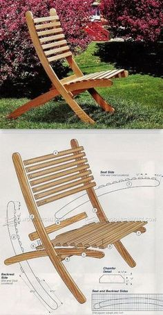 Outdoor Folding Chair Plans - Outdoor Furniture Plans and Projects   WoodArchivist.com