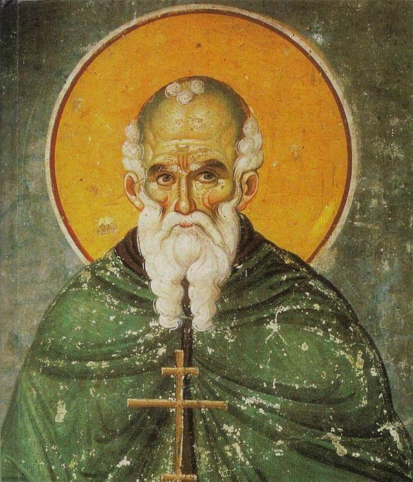 Εικόνα του οσίου Αθανασίου του Αθωνίτου (Μεγίστη Λαύρα, Άγιον Όρος) - Icon of Saint Athanasios the Athonite (Great Lavra, Mount Athos)