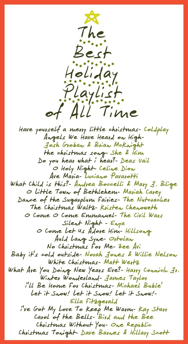 Best Holiday Song Playlist of All Time