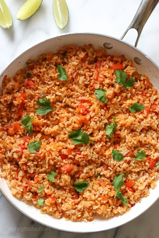 Quick Mexican Brown Rice Skinnytaste.com Servings: 5 • Serving Size: generous 3/4 cup • Weight Watchers Points+: 5 pts