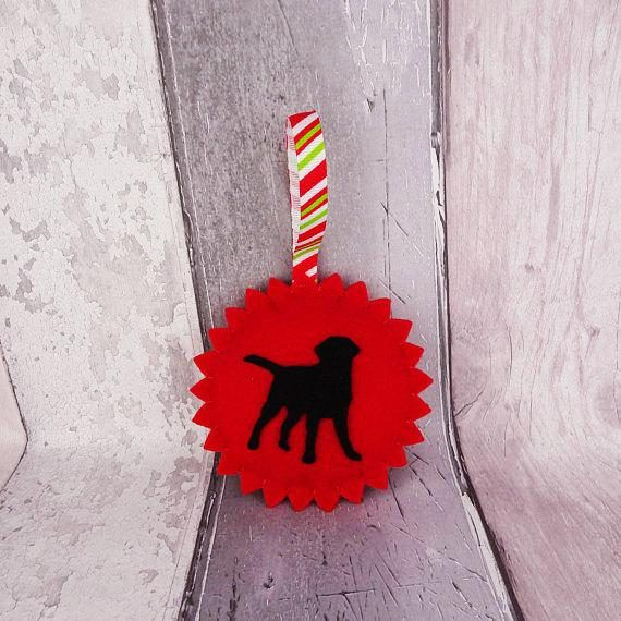 Labrador Christmas decorations Red or green hanging