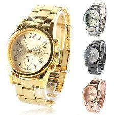 Fashion Geneva Ladies Women Girl Stainless Steel Quartz Wrist Watch Watches
