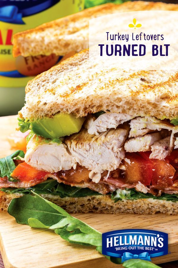 A little kitchen magic turns your Thanksgiving leftovers into...delicious Turkey Avocado BLT's. And don't forget the Hellmann's Mayonnaise!