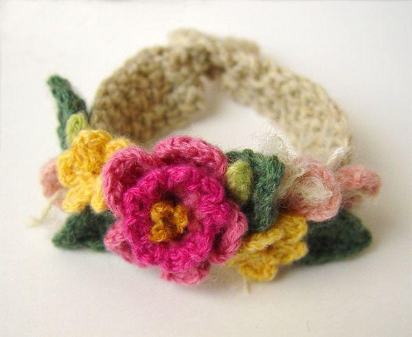 Crochet Pink Spring Flowers Bracelet   Flickr - Photo Sharing!