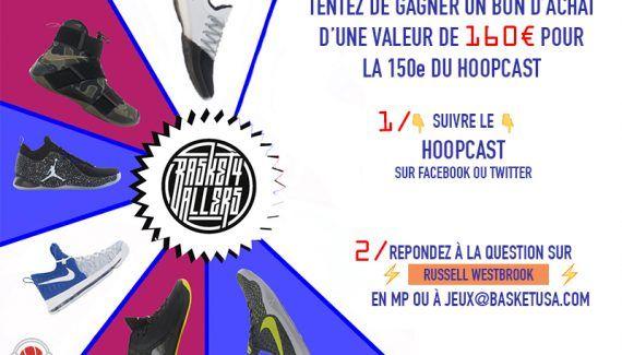 [Concours Hoopcast] Gagnez un bon d'achat de 160 euros chez Basket4Ballers ! -  À l'occasionde sa 150e émission, le Hoopcast vous fait gagner un bon d'achat d'une valeur de 160euros chez notre partenaire Basket4Ballers ! De quoi s'acheter pratiquement n'importe quelle paire de… Lire la suite»  http://www.basketusa.com/wp-content/uploads/2017/02/jeu-hoop-def-570x325.jpg - Par http://www.78682homes.com/