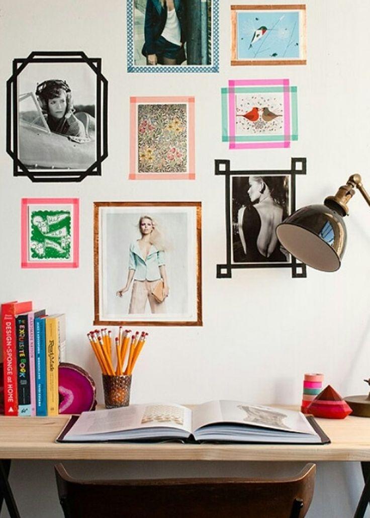 <p>Si vous êtes locataires et que vous avez peur de percer tous les murs de votre habitat, le Masking Tape deviendra votre meilleur allié. En un rien de temps, il remplace les cadres pour...