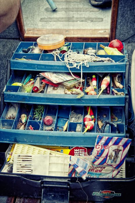 tackle box   WOW  that's full