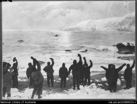Ultimate Faith - Men left behind on Elephant Island wave farewell to Sir Ernest Shackleton who came back against all odds to rescue them.