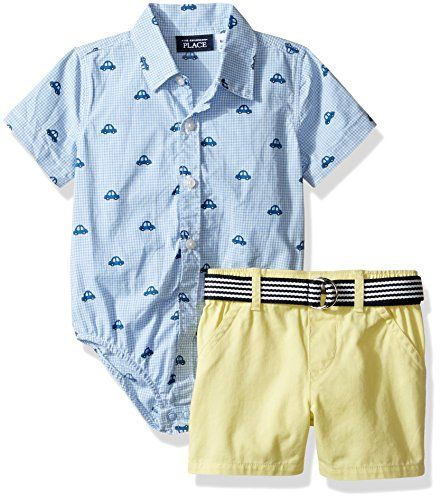 The Children's Place Baby-Boys Li'l Guy's Short & Top Clothing Set, Cars (Vista Blue), 0-3 months. For product info go to: https://all4babies.co.business/the-childrens-place-baby-boys-lil-guys-short-top-clothing-set-cars-vista-blue-0-3-months/
