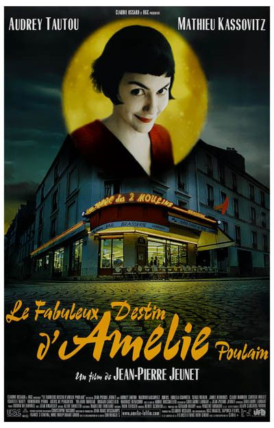 Amelie Corner Cafe Audrey Tautou Movie Poster 11x17