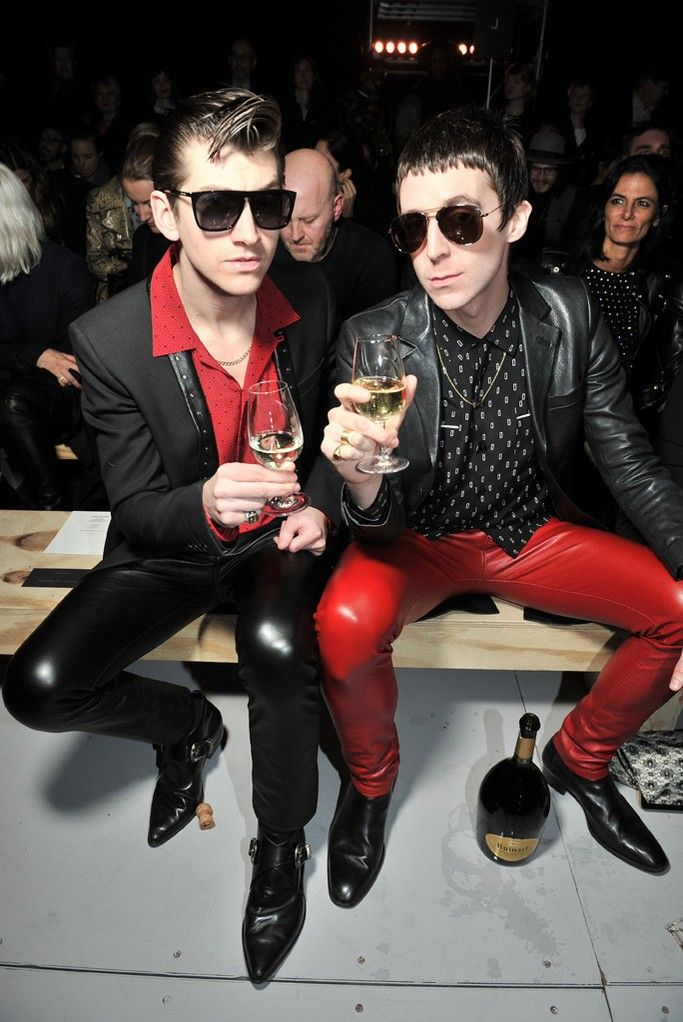 Alex Turner and Miles Kane, do you reckon they organised their outfits?