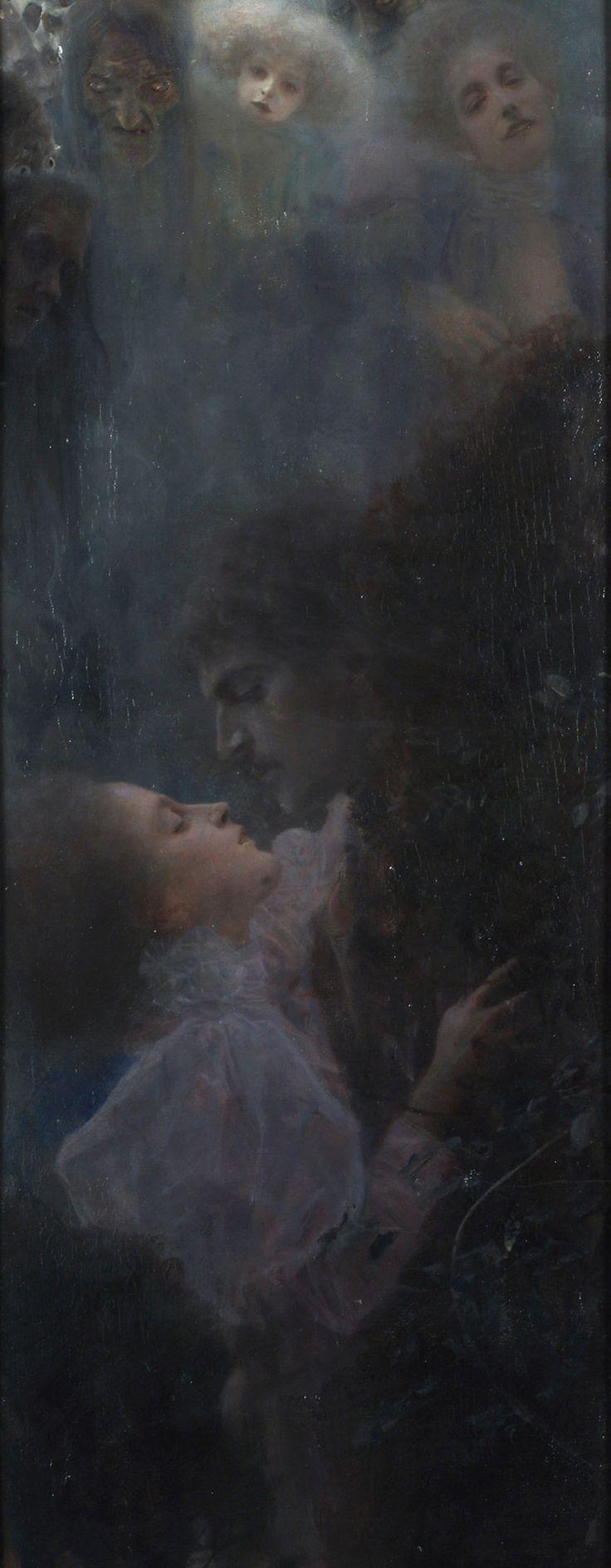 La Fiancée de la Nuit | lun-ea: Allegory of Love, Gustav Klimt