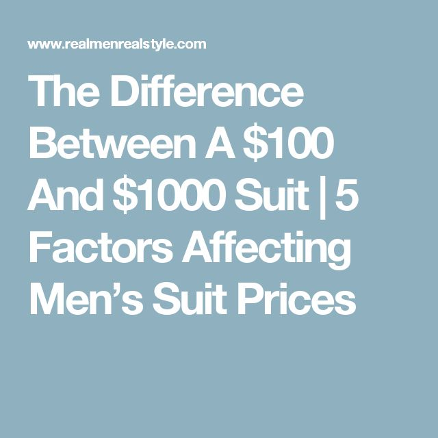 The Difference Between A $100 And $1000 Suit | 5 Factors Affecting Men's Suit Prices