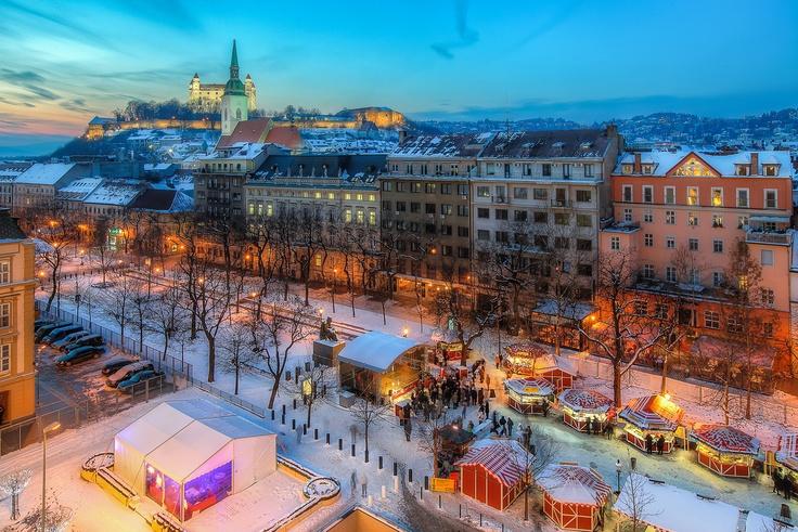 Freezing above Hviezdoslav Square
