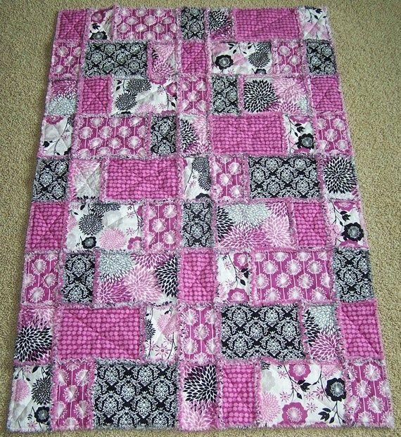 Rag Quilt Color Ideas : rag quilt ideas Rag Quilt fabric idea. :) JJ Quilting Rag Quilts Pinterest Quilts ...