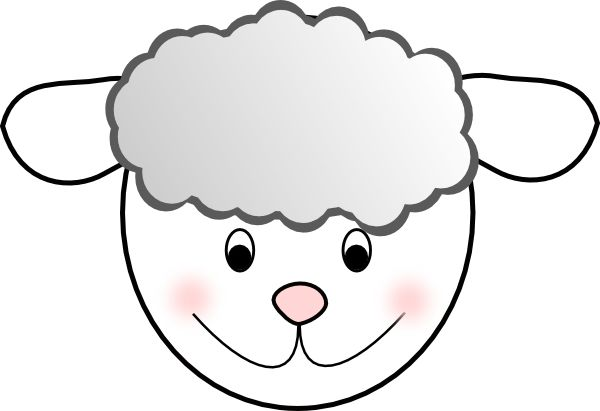 lamb cut out template - sheep face mask template printable craft paper plate