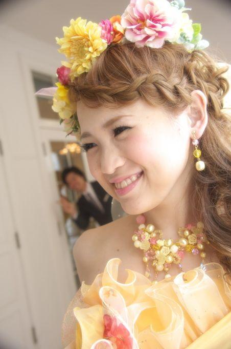 花冠・髪型