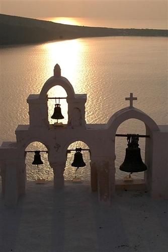 Ola church bells, Santorini, Greece