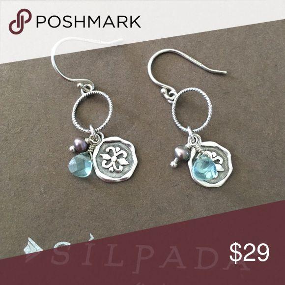 Silpada Earrings Silpada Earrings with blue stone. Silpada Jewelry Earrings