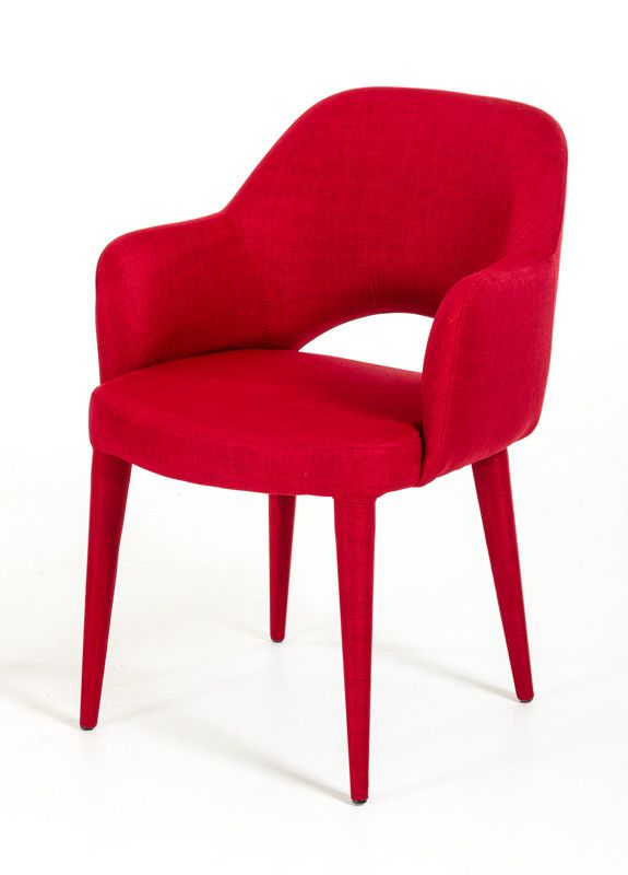 Modrest Williamette Modern Red Fabric Dining Chair #livingroomchairs  #diningroomchairs #redchair upholstered dining chairs, modern chairs ideas, upholstered chairs | See more at http://modernchairs.eu