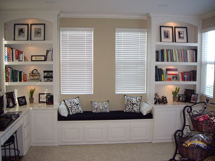 Image Result For Built In Shelves With Window Seat