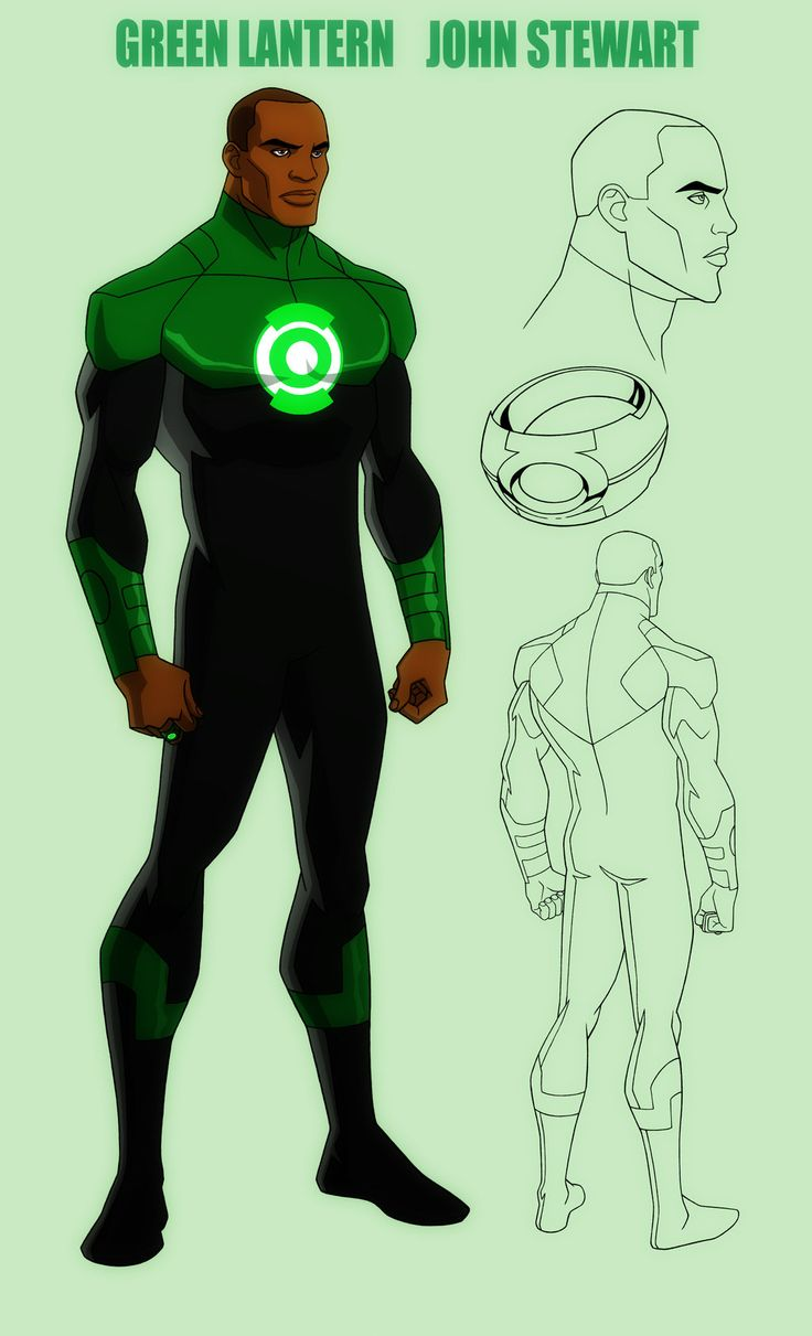 YOUNG JUSTICE: JOHN STEWART: GREEN LANTERN by *Jerome-K-Moore on deviantART