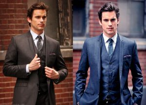 Neal Caffrey from White Collar in a three piece suit. LOTS of pics of guys in suits.
