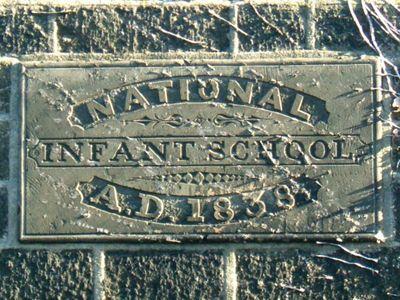 Wilsden's National Infant School inscription, 1838.