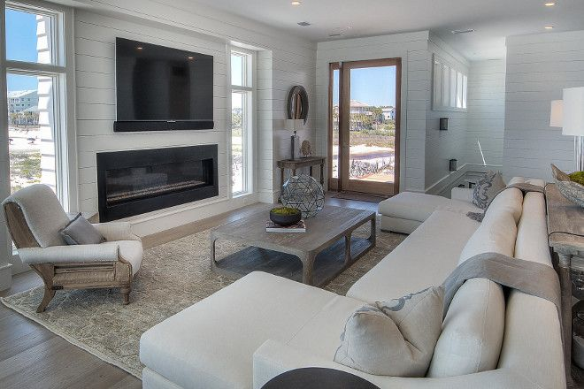 25 best ideas about fireplace living rooms on pinterest for Images of rooms with shiplap