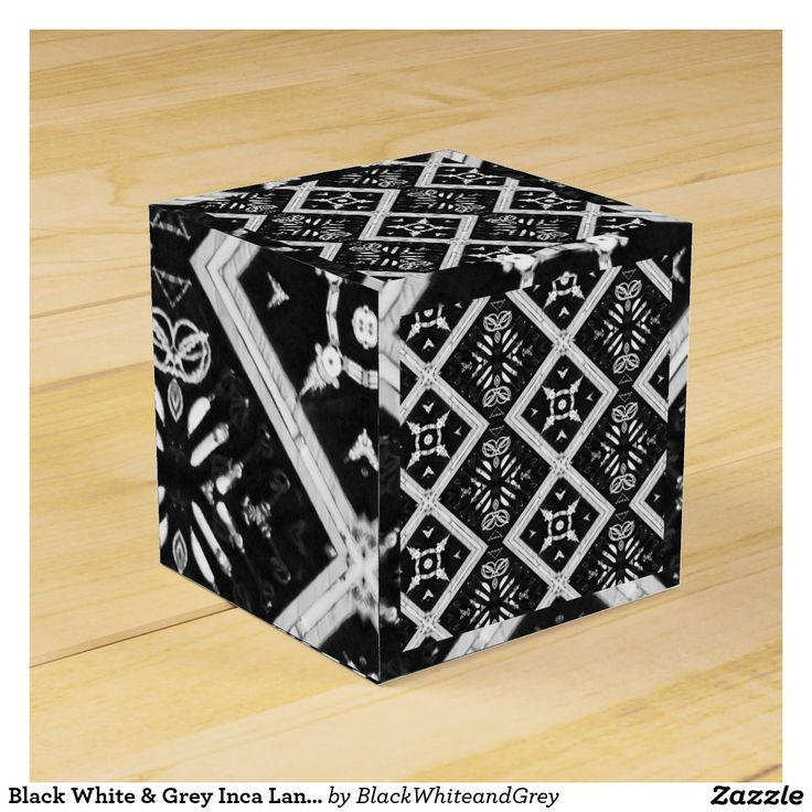 Black White & Grey Inca Land Favour Box
