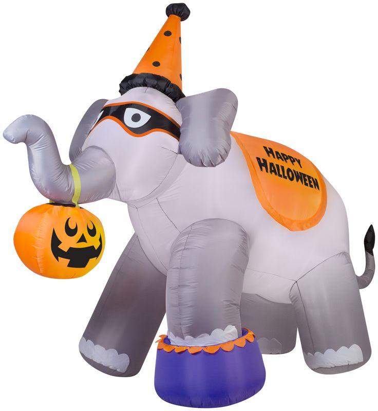 9' Airblown Circus Elephant Halloween Inflatable