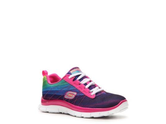 Women's Girls Skechers Pretty Please Girls Toddler & Youth Sneaker - Pink/Purple/Green/Blue