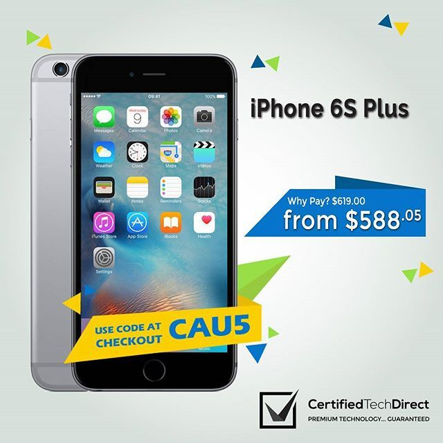 Get the iPhone 6S Plus at the best price with an extra 5% OFF at our eBay store. Use code CAU5 at checkout. T&C's apply. #iphone6splus