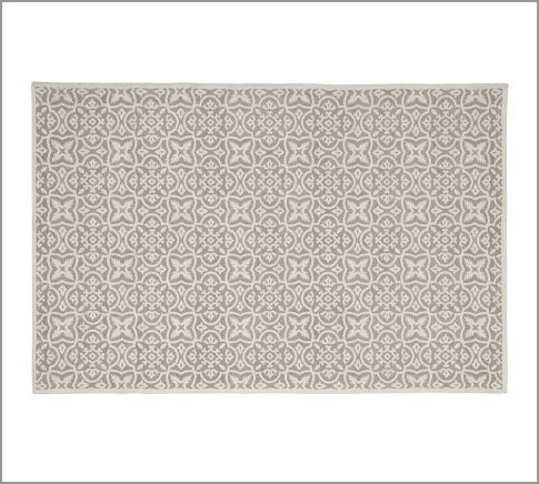 Isis Chenille Tapestry Rug - Porcelain Blue | Pottery Barn