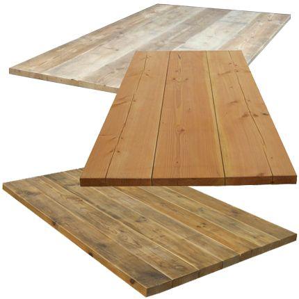 Losse tafelbladen van steigerhout damwandhout en for Tafelblad steigerhout maken