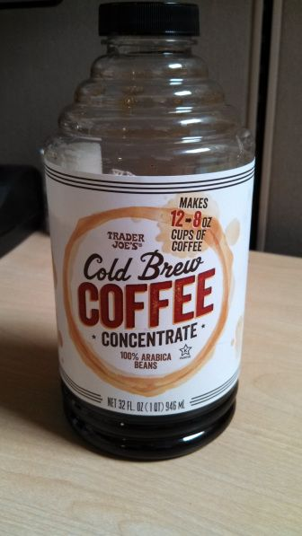 Trader Joe's Cold Brew Coffee Concentrate: my afternoons just got a lot more productive!