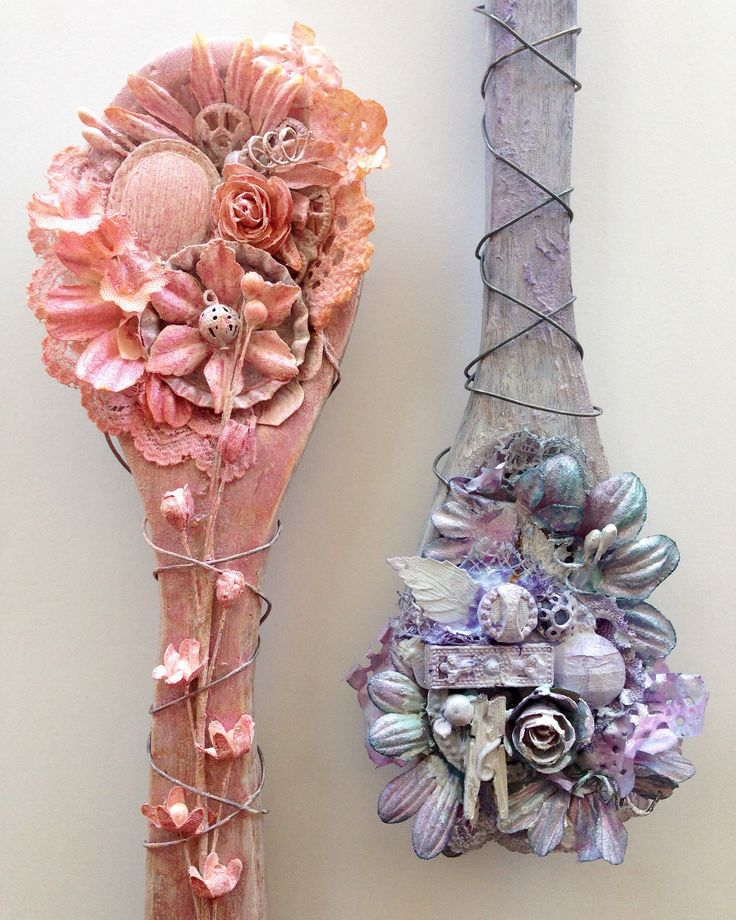 Mixed media spoons 2 @isblu @createcraftau