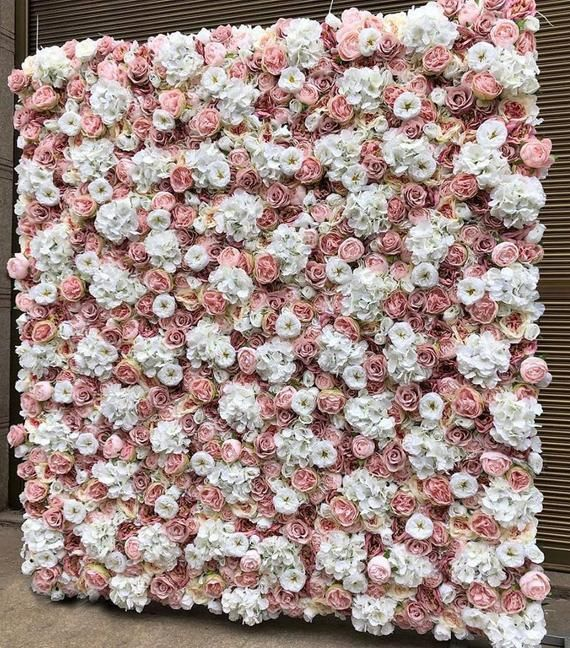 Silk Floral Wall Backdrop Panel For Party Decoration Etsy Flower Wall Backdrop Fake Flowers Decor Fake Flowers