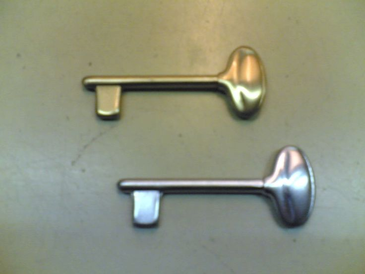 Chiavi porta cromo satinato o ottone satinato V&V 1pz Door keys satin chrome or