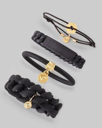 MARC by Marc Jacobs Rubber Standard Supply Bracelet, Black $18.00 thestylecure.com