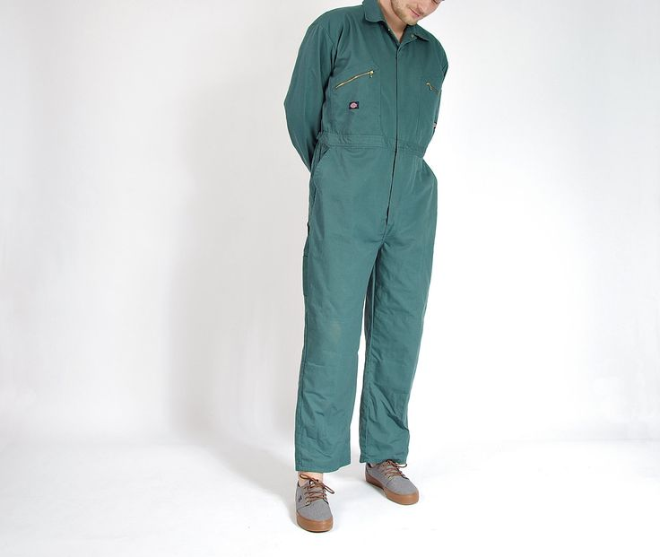 90s Dickies Workwear Street Style Jumpsuit Coveralls / Men size L/XL