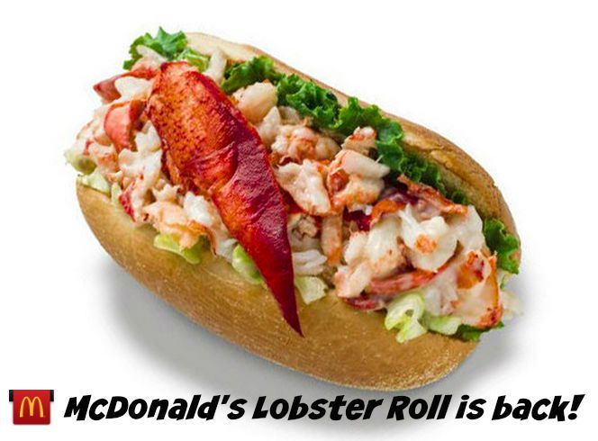 McDonald's Lobster Roll is back for the summer! #ad