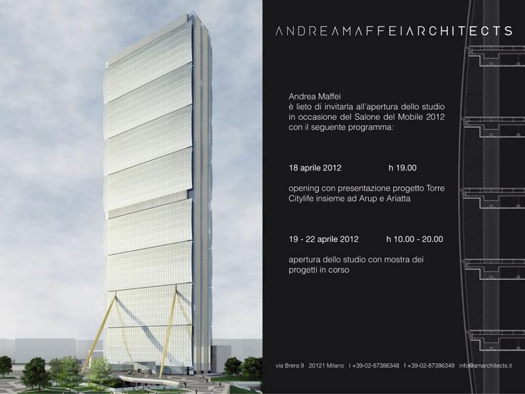 Flyer of the Andrea Maffei Architects exhibition held in the Studio during the Milan Design Week 2012